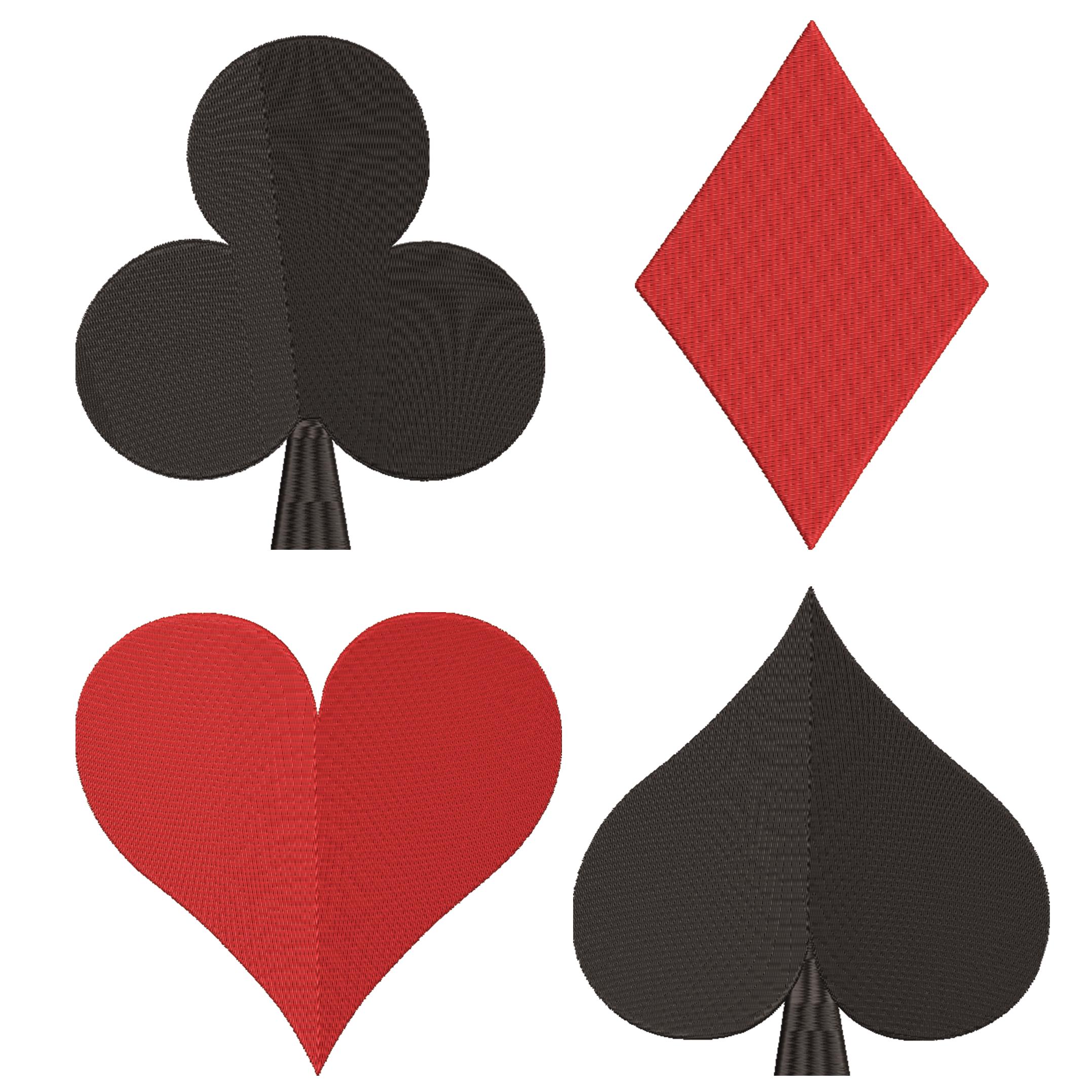 Card Suits Symbol Machine Embroidery Design Deck Of Card Symbol Poker Cards Embroidery Game Card Symbol Spade Heart Club Diamond Card Machine Embroidery Designs Embroidery Designs Machine Embroidery