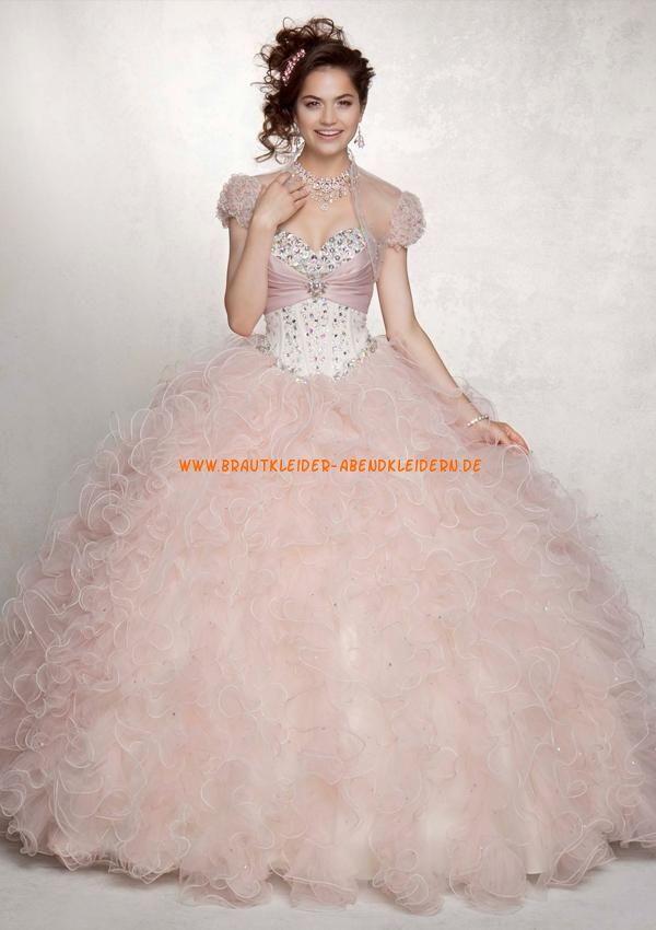 Zauberhaftes Abendkleid Ballkleid für Prinzessin mit Perlenstickerei ...