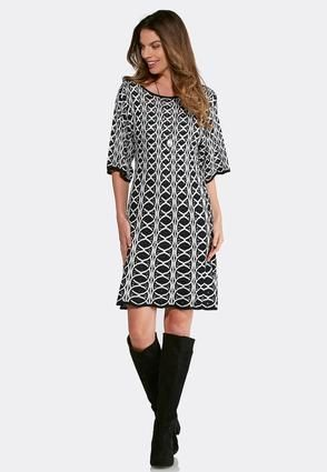 Cato Fashions Plus Size Jacquard Sweater Swing Dress Catofashions