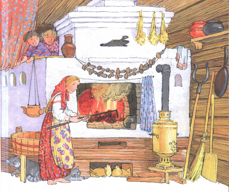 Русская печка в старину картинки