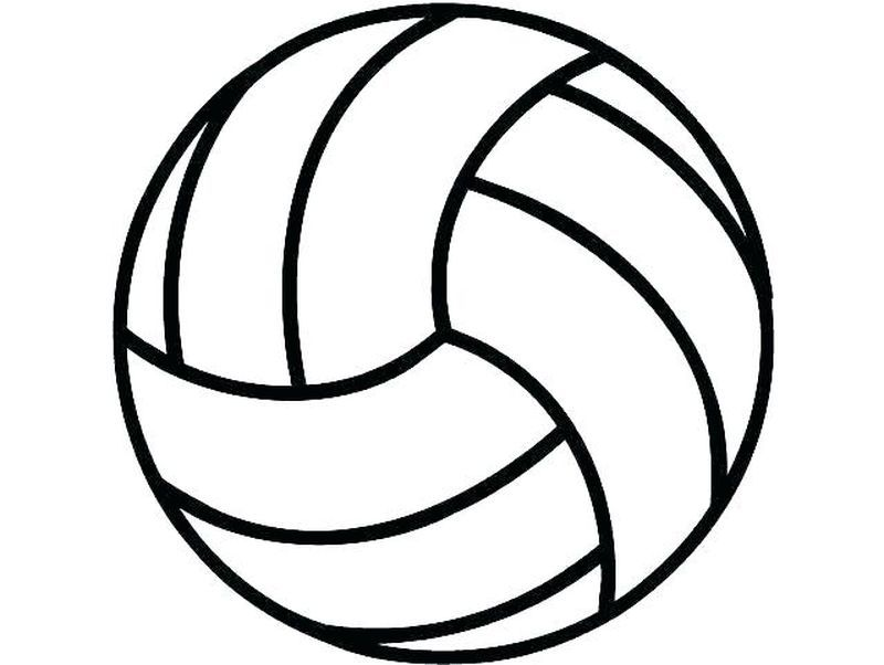 Coloring Pages For Kids Basketball in 2020   Volleyball ...