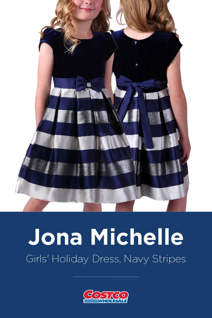 Jona Michelle Girls' Holiday Dress, Navy Stripes | Kids tutu dress, Tutu skirt  kids, Girls dresses