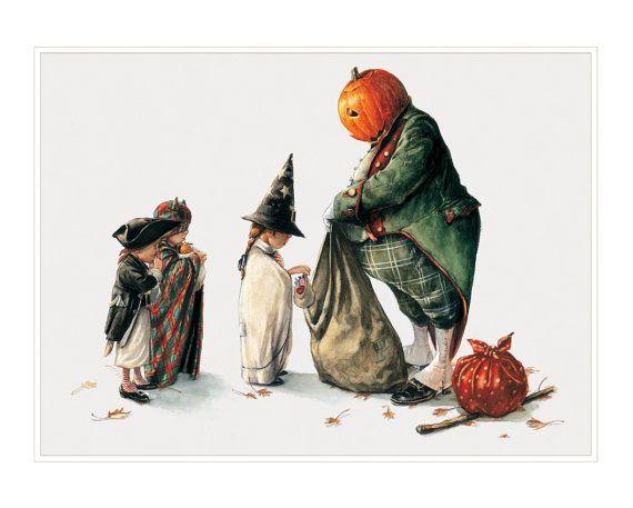 Small Fine Art Print  Halloween's Thief por StudioJBMongeGoblin