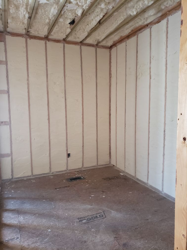Open Cell Spray Foam On Exterior Walls Of New Home Spray Foam Spray Foam Insulation Exterior