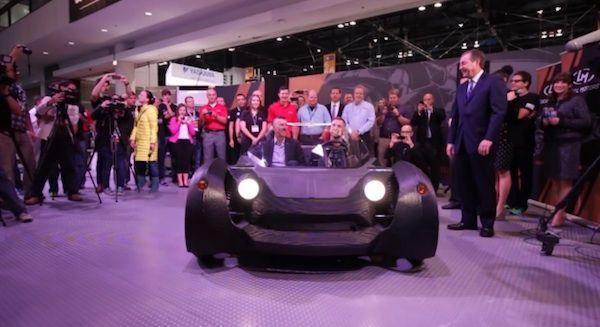 Prueban con éxito el primer vehículo funcional fabricado con una impresora 3D