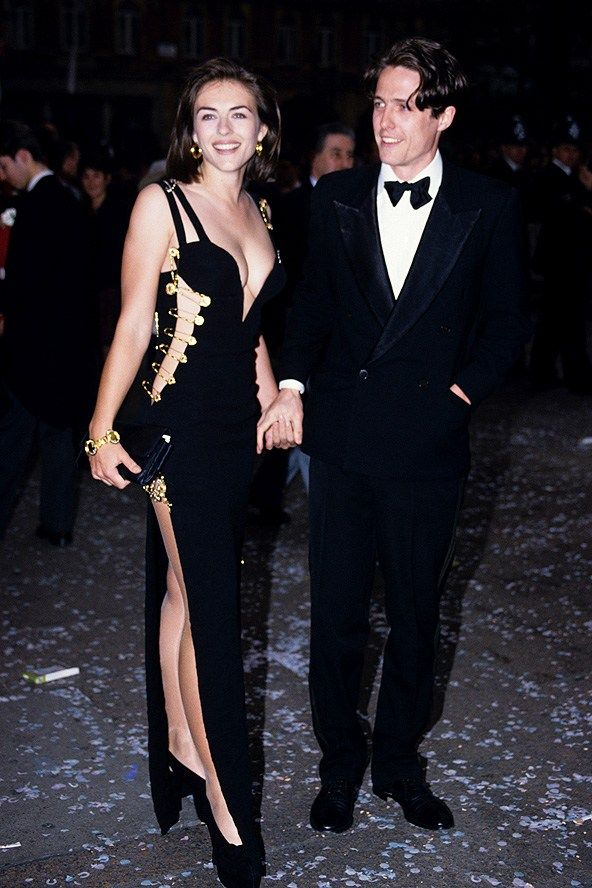 Iconic Inspiration Elizabeth Hurley Versace Safety Pin Dress I Remember The Day Vividly When Elizabe Iconic Dresses Elizabeth Hurley Red Carpet Dresses Best