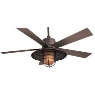 Check out the Minka Aire F582-ORB Rainman 5 Blade 1 Light Indoor/Outdoor Ceiling Fan in Oil Rubbed Bronze - blades Included