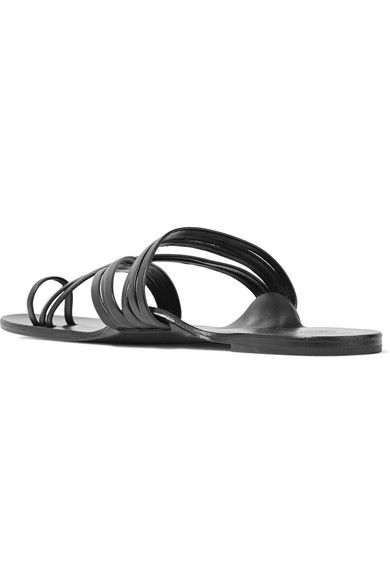 8ee54cc09c65 The Row - Cannes Leather Sandals - Black