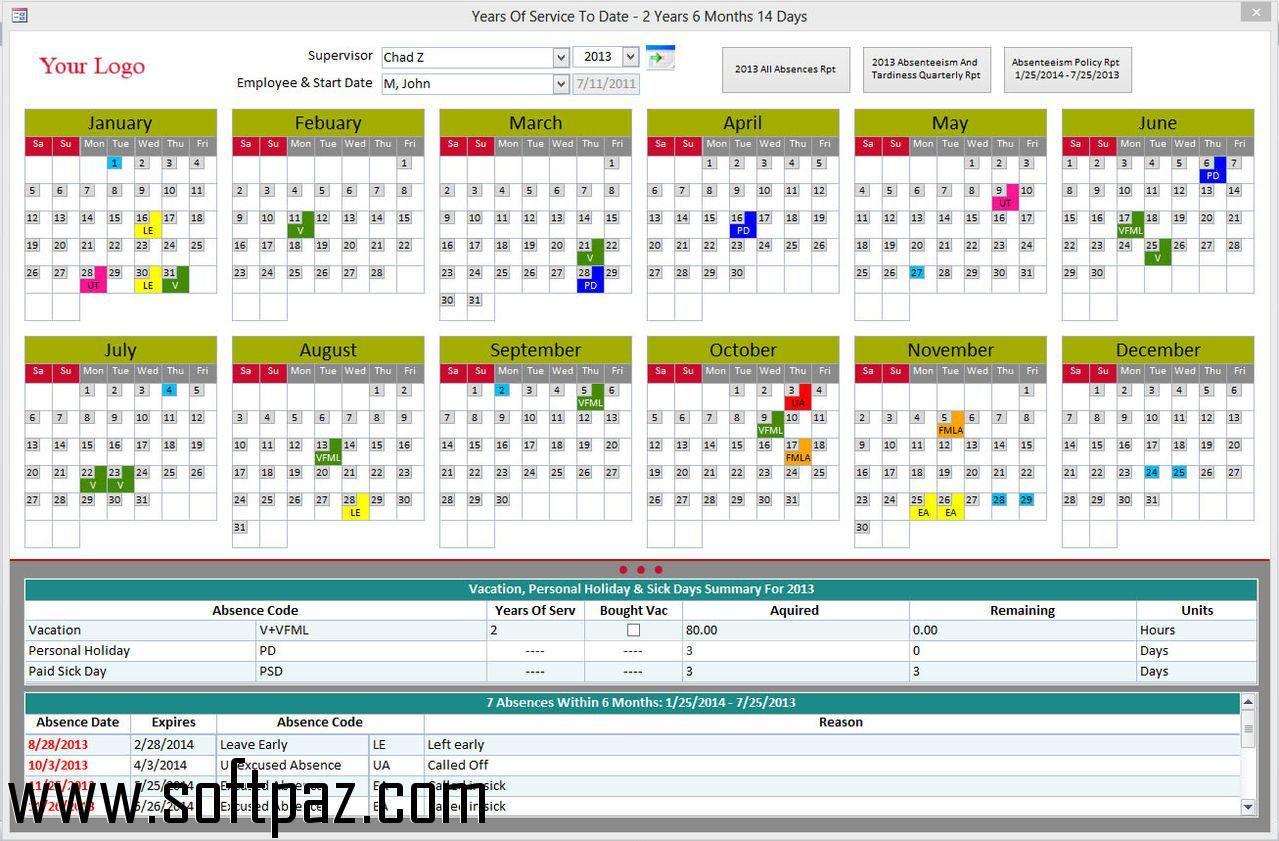 employee tardiness tracker