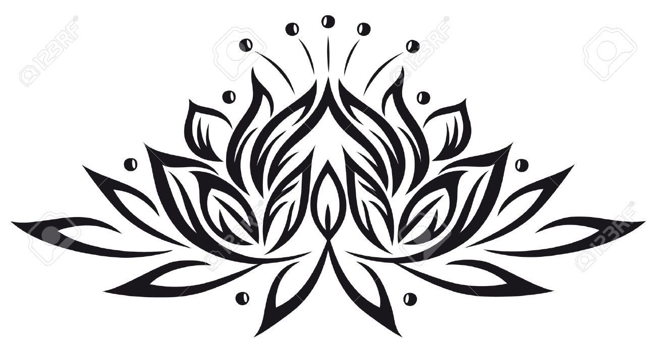Lotus Flower Vector Stock Photos Images Royalty Free Lotus Flower Vector Images And Pictures Tribal Lotus Tattoo Lotus Tattoo Design Lotus Flower Tattoo