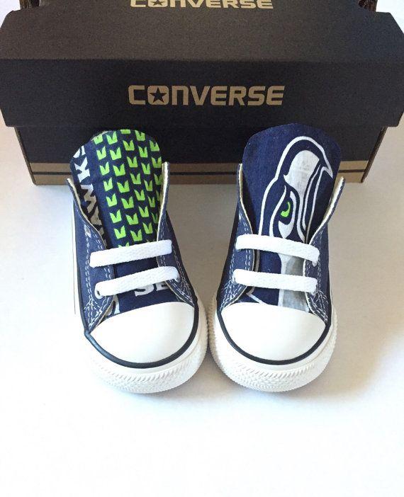 3cebae6f59febf Kids Seahawks Converse Shoes
