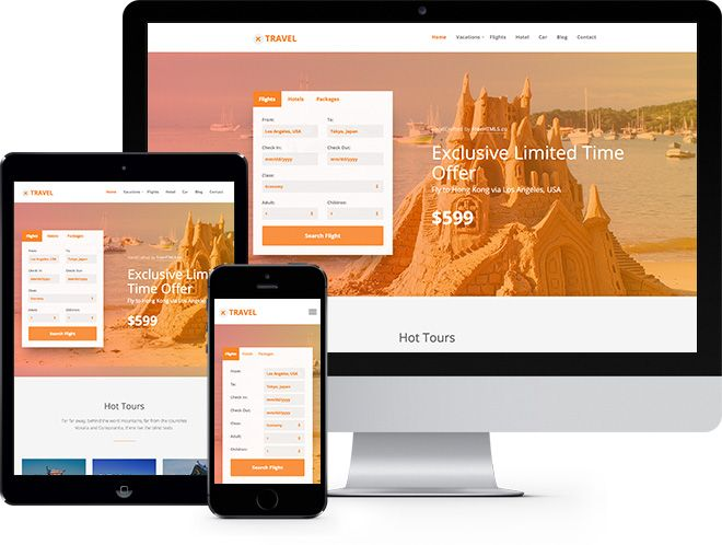 Travel Free Html5 Bootstrap Template For Travel Agency Free