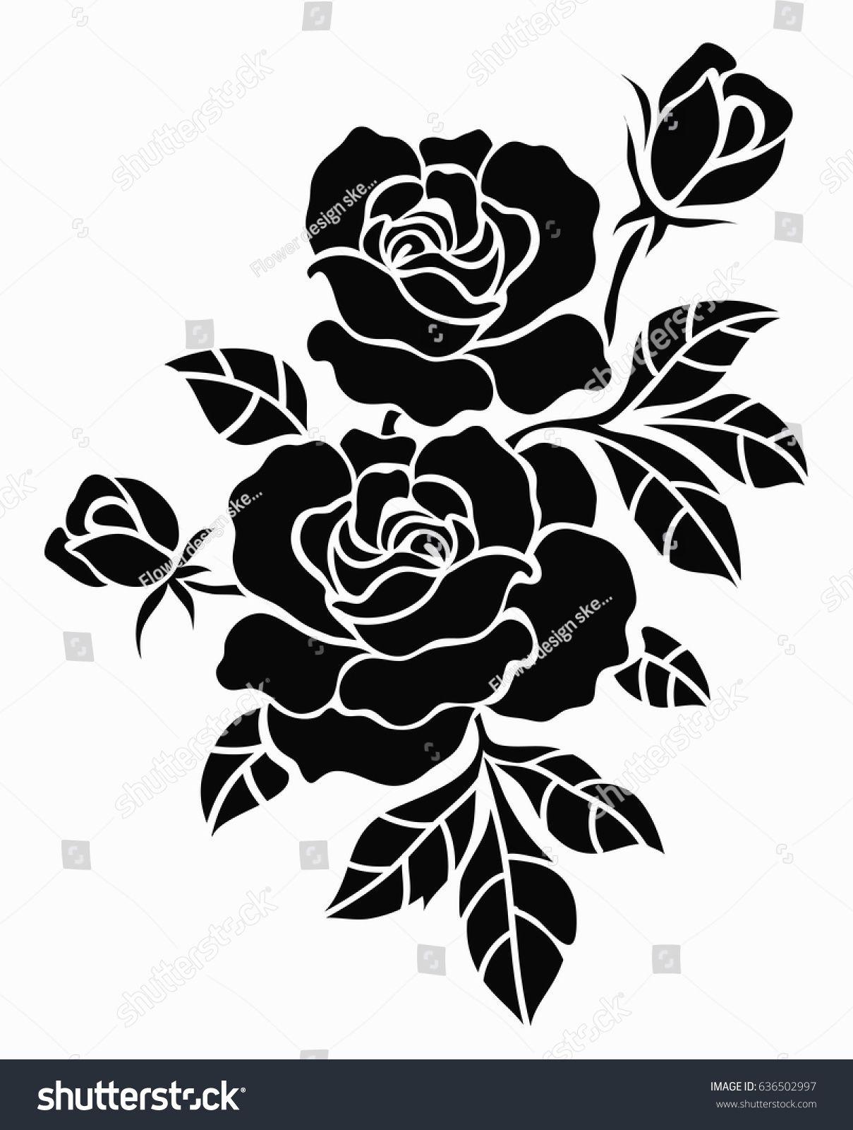 Flower Motif Sketch For Design N Sponsored Affiliate Motif Flower Designn Sketch Flower Stencil Patterns Floral Stencil Flower Stencil