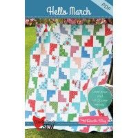 Hello March Downloadable PDF Quilt PatternCluck Cluck Sew