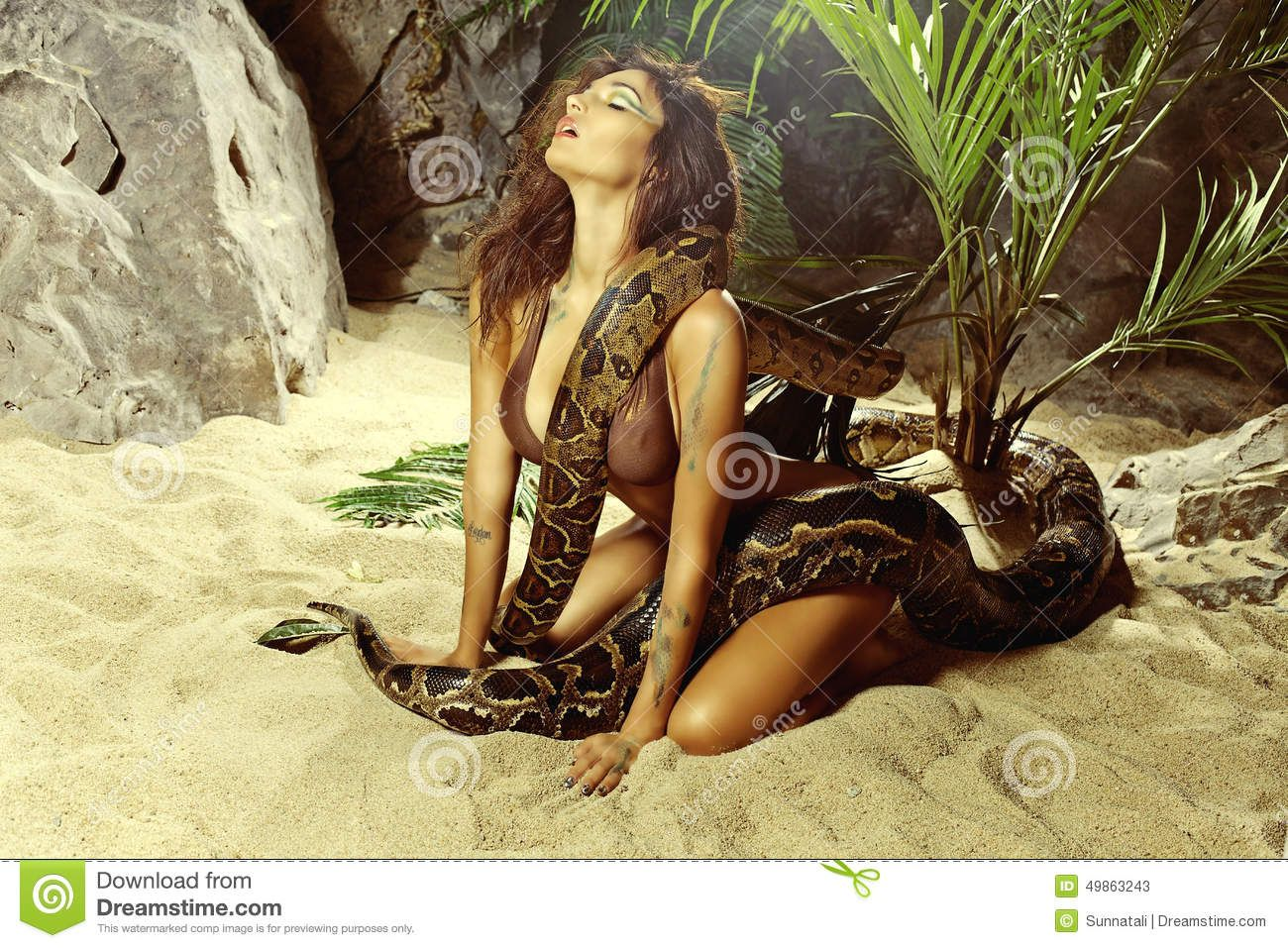 Sexy woman withsnake