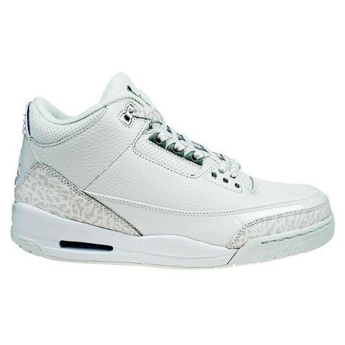 Air Jordan 3 (III) Retro Pure Money White Metallic Silver 136064-103 $54