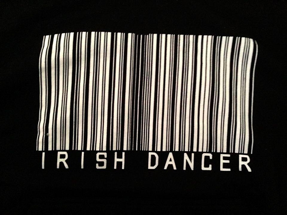 Black Irish Dancer Barcode Hoodie - Irish Dancing Clothing Sale