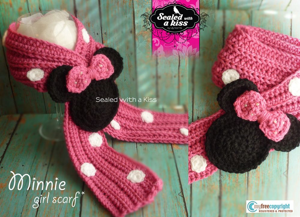 Image of Minnie Mouse Girl Scarf | Crochet & Craft Room | Pinterest ...