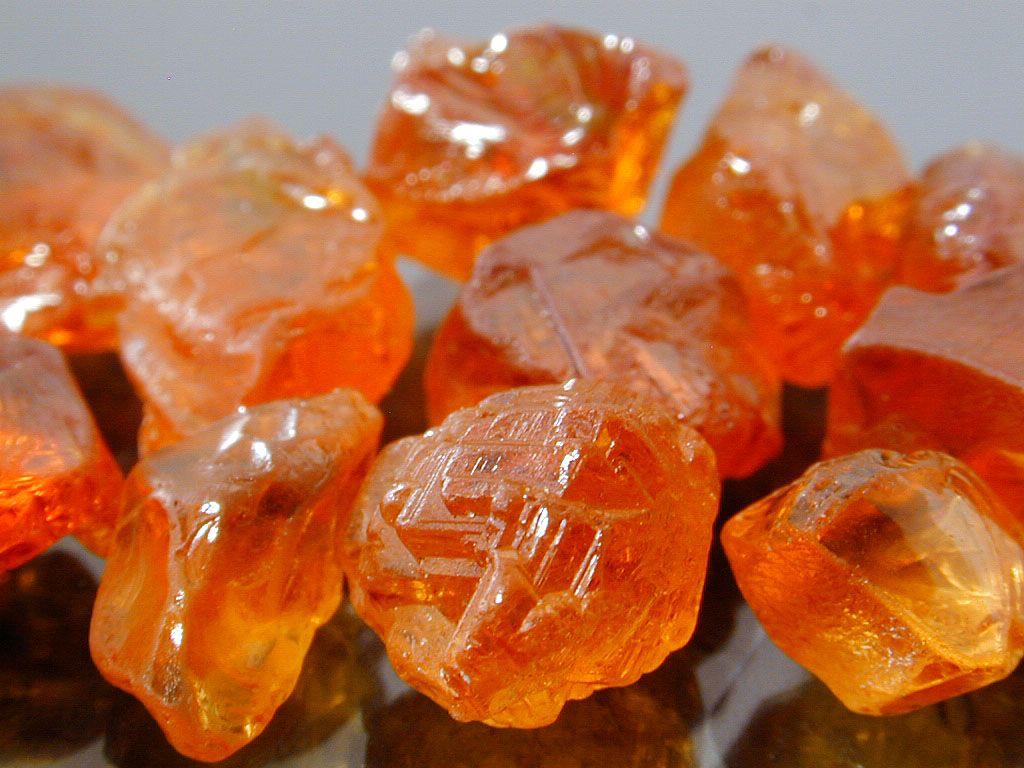 Mandarin Orange Spessartite Garnets from Africa