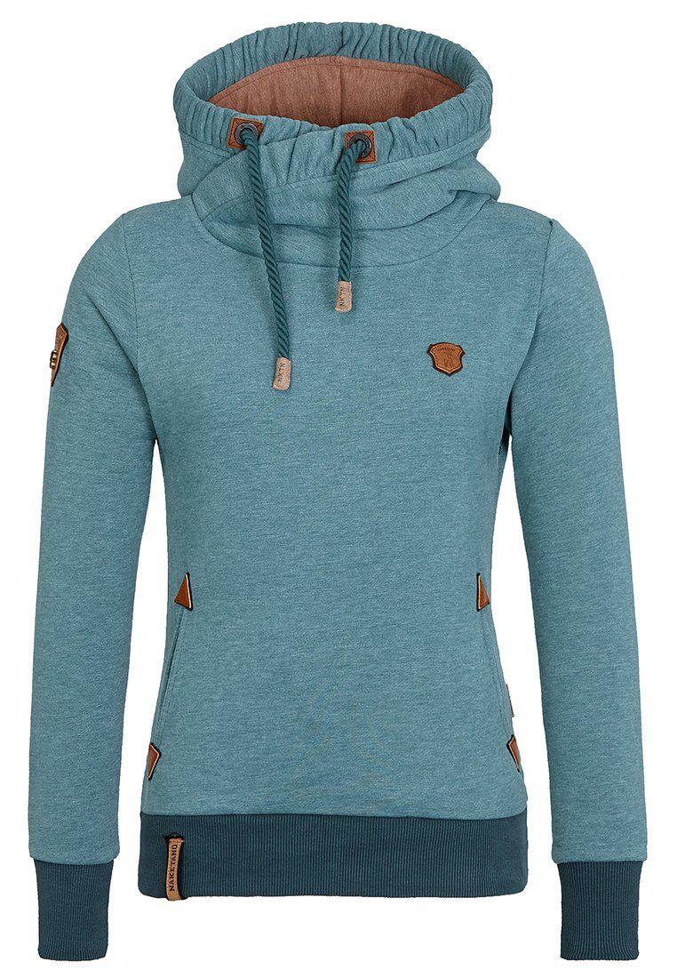 NAKETANO Darth Mack Hooded Sweatshirt for Women Green
