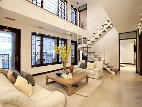 Two Story Living Room | Million Fridays: Three Bedroom Duplex With Two Story