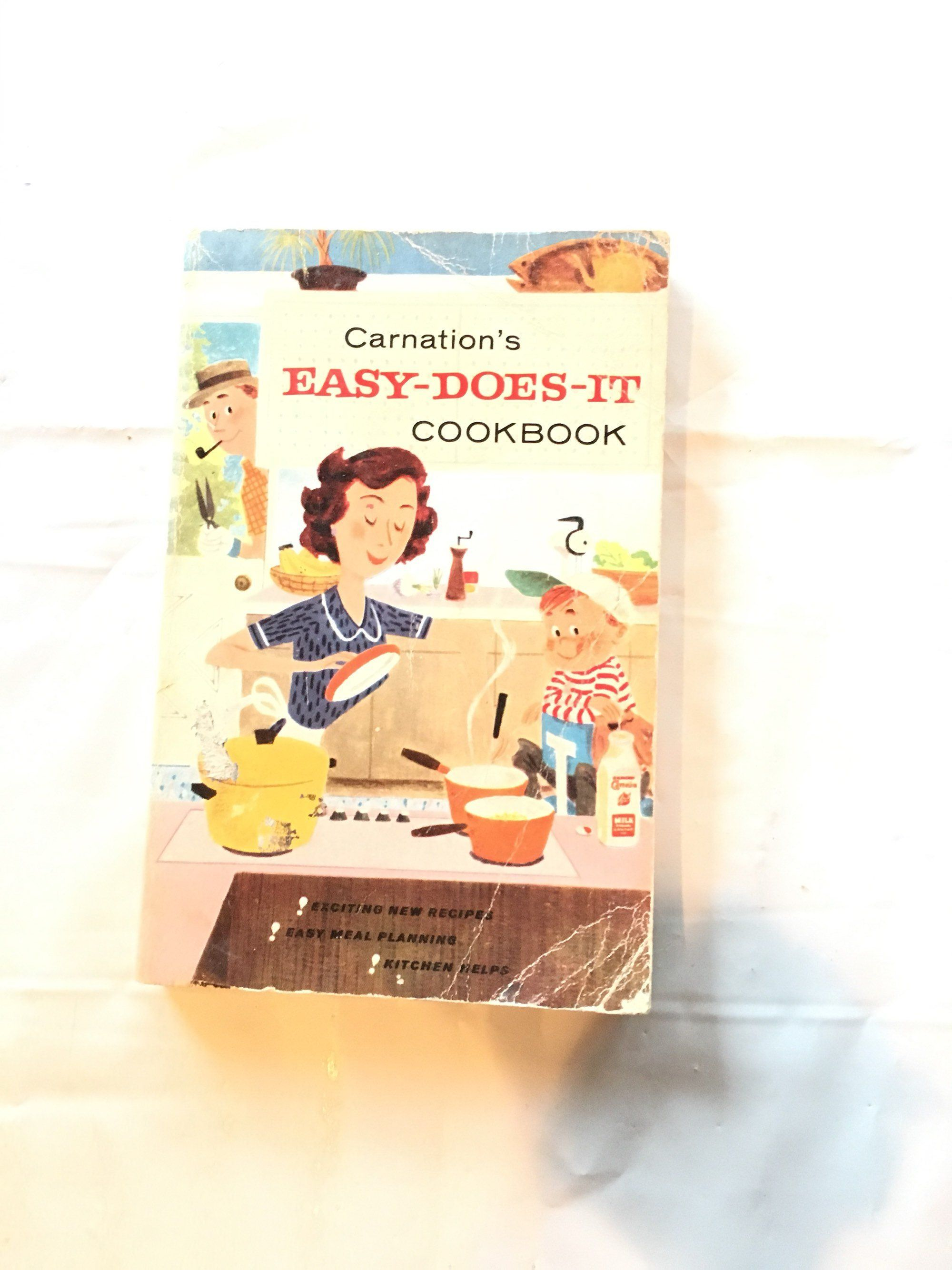 1950s Advertising Cookbook Carnation S Easy Does It Etsy Vintage Cookbooks Cookbook Scandinavian Cookbooks