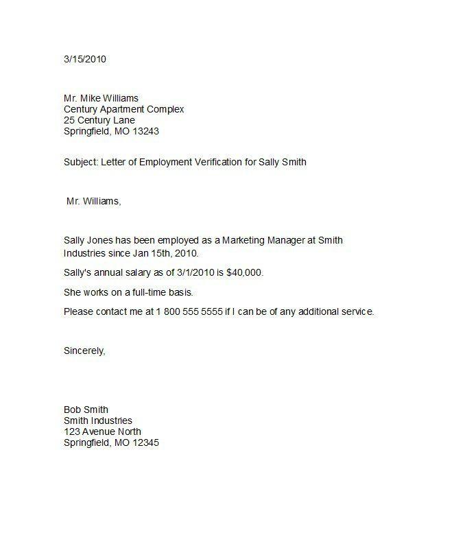 Proof of employment letter 05 Europe Pinterest - employee verification letter