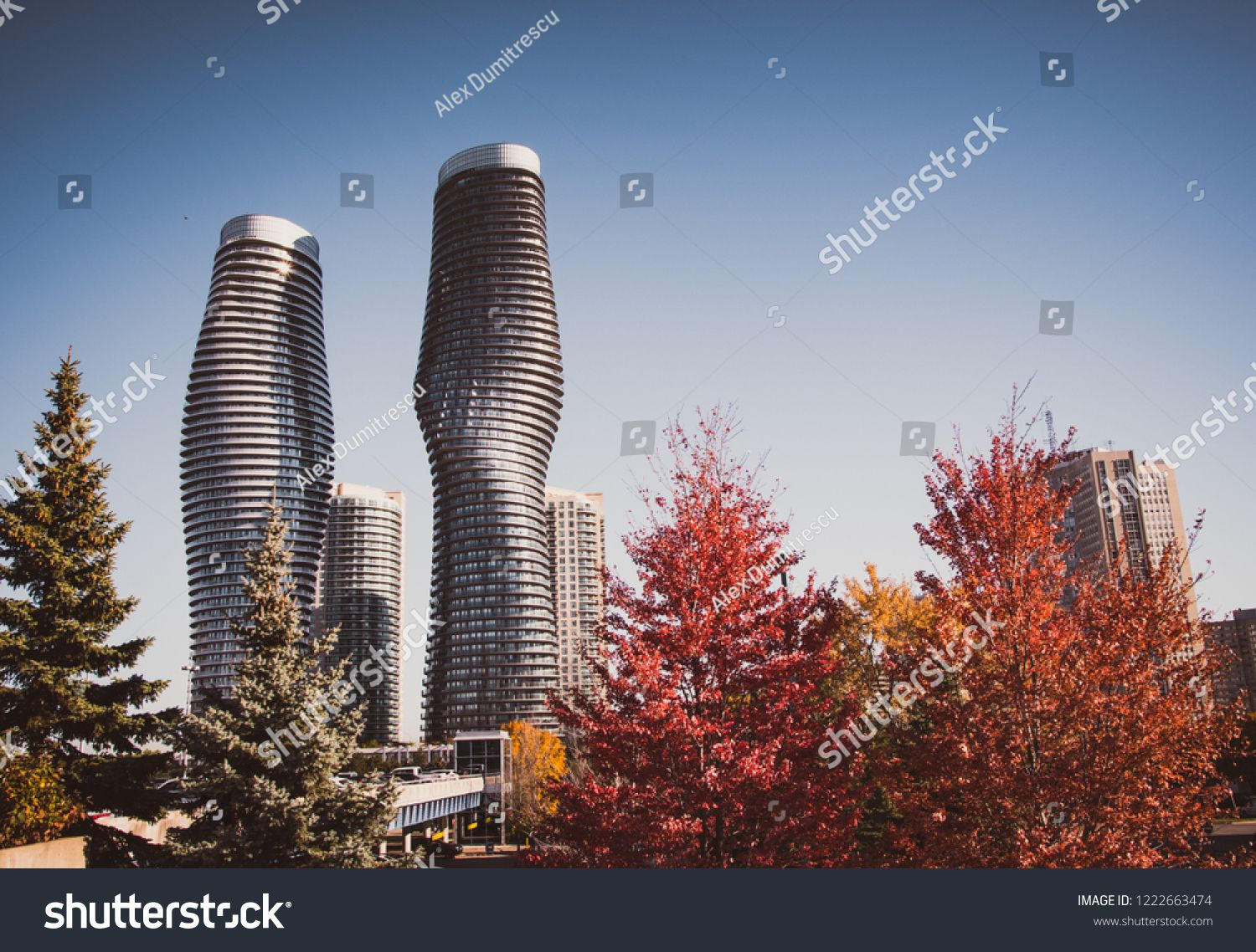 Mississauga Canada 30 October 2018 Twisted Modern Buildings