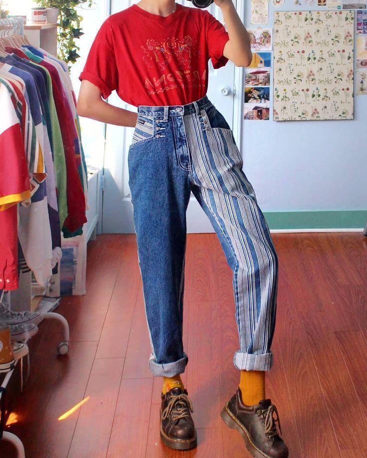 Kommentar Hallo In Deiner Sprache Jeans Sind Alle Vintage Von Ebay Depop Etsy 90er Mode Kleidung Mode Outfit Ideen
