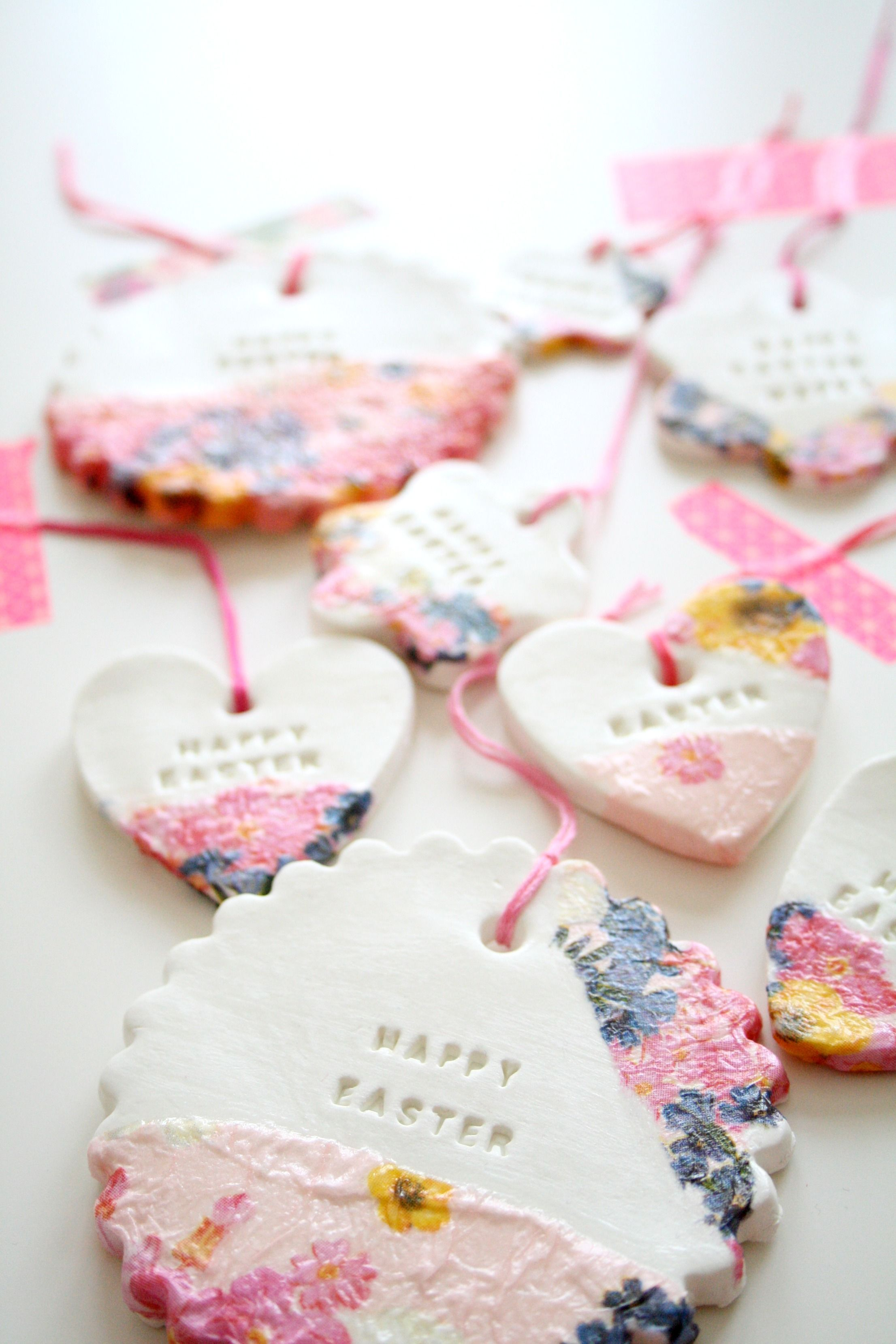 A little late for this years easter but a super cute idea for crafts easter diy clay ornaments 7 other inspirations negle Image collections