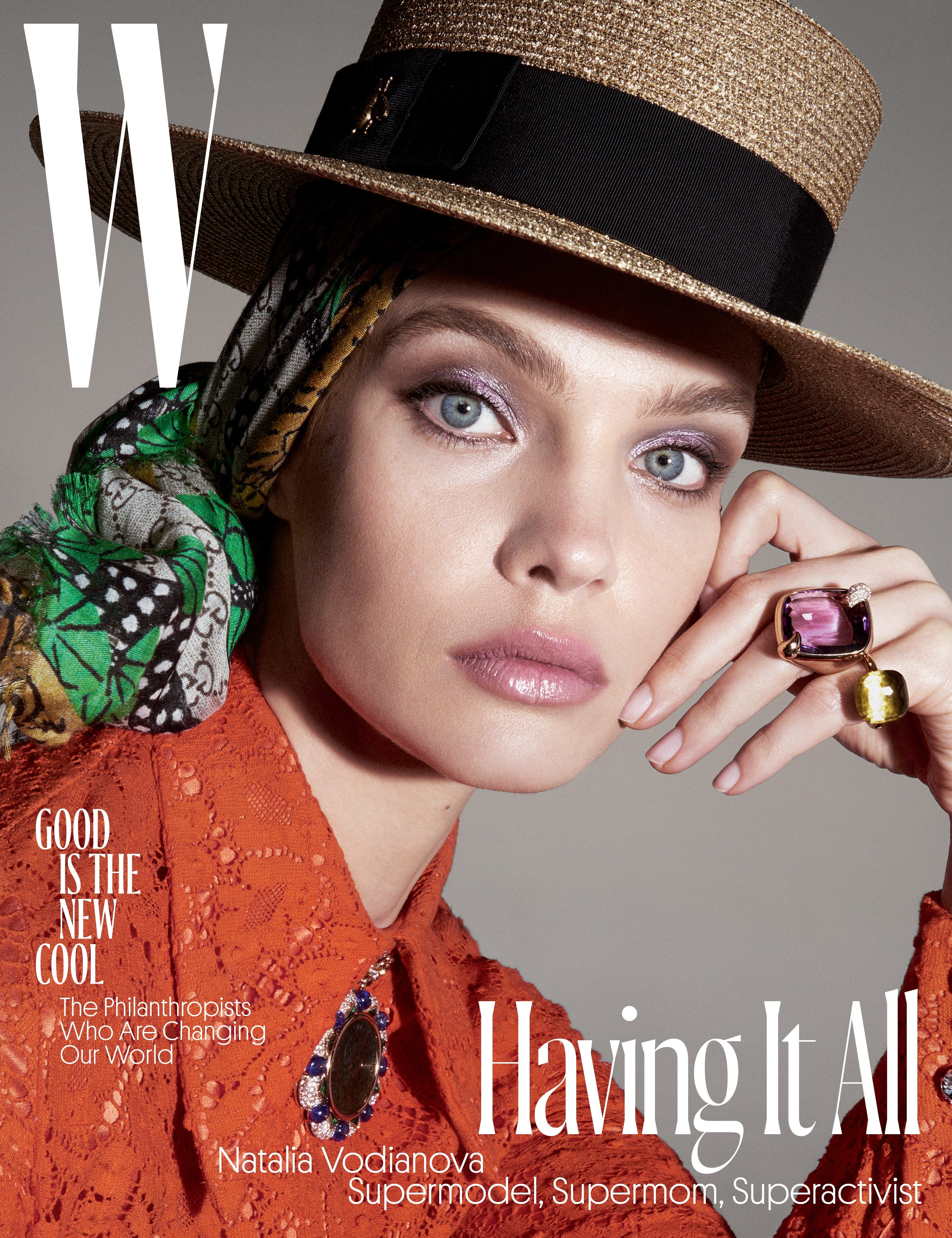 c3e84d4f767bb Natalia Vodianova, W s June July 2017 Cover Star, Poses for Photographer  Steven Meisel Photos   W Magazine
