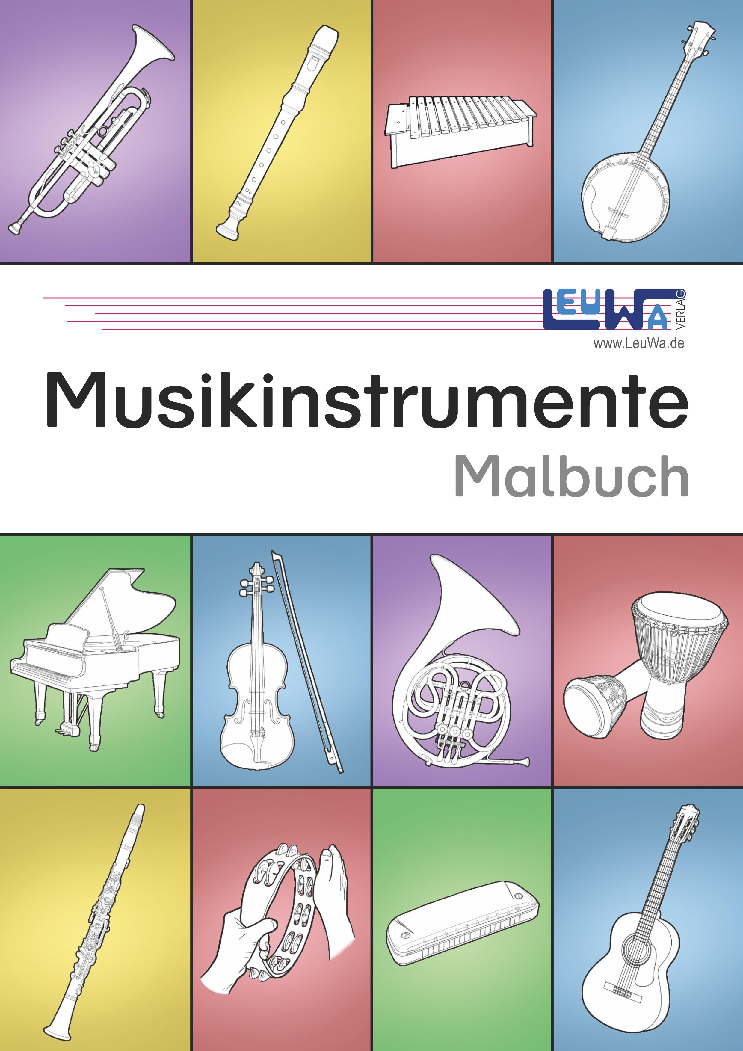 Musikinstrumente Malbuch Unterrichtsmaterial Im Fach Musik Musik Musikinstrumente Wenn Du Mal Buch