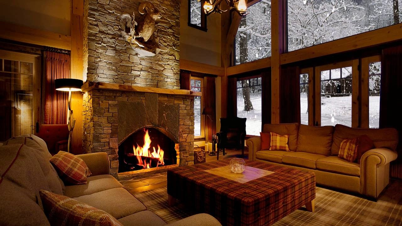 Beautiful Snow With Fireplace Sound Easy Home Decor Home Decor