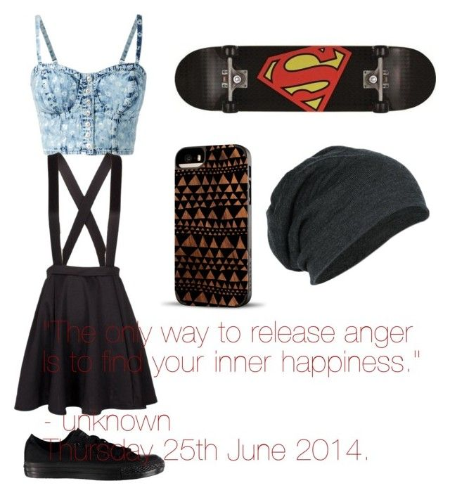 """""""Skater"""" by indiebean-7 ❤ liked on Polyvore featuring Converse and Recover"""