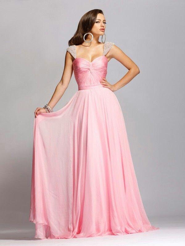 Lujo Sherri Vestido De Fiesta Colina De Color Rosa Colección de ...
