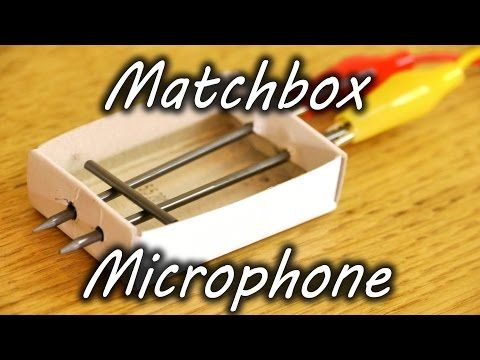 Matchbox microphone. We haven't tested it yet, but hope that it works so we can do this activity with our summer camp kids!