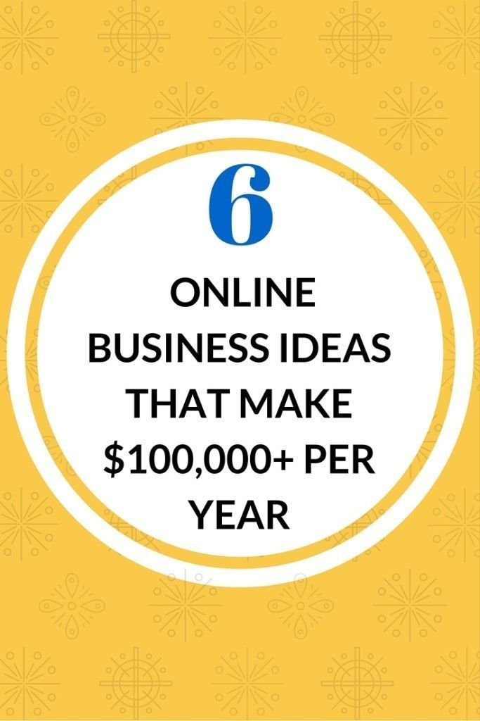 Six Figure Online Business Ideas Small Business Online Internet