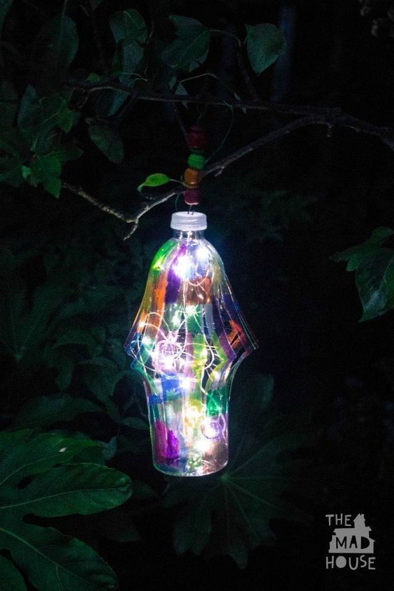 DIY Garden Lantern From A Plastic Bottle