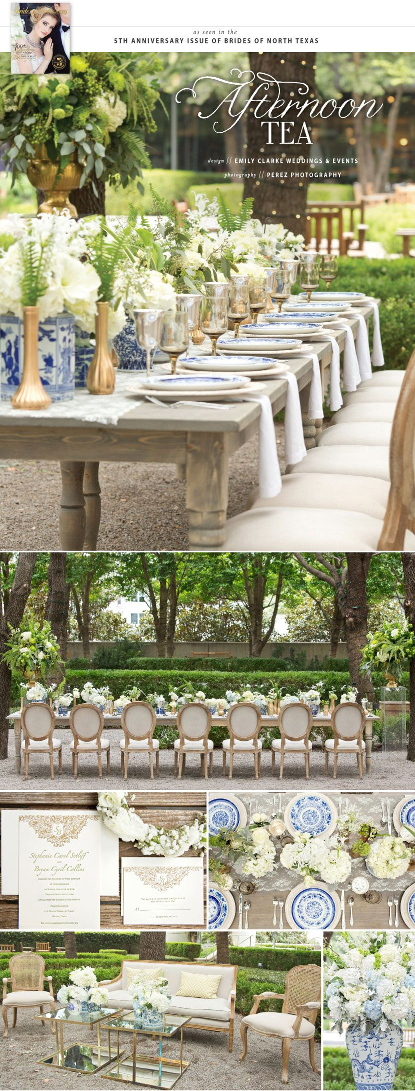 Afternoon Tea | Wedding Inspiration | Brides of North Texas