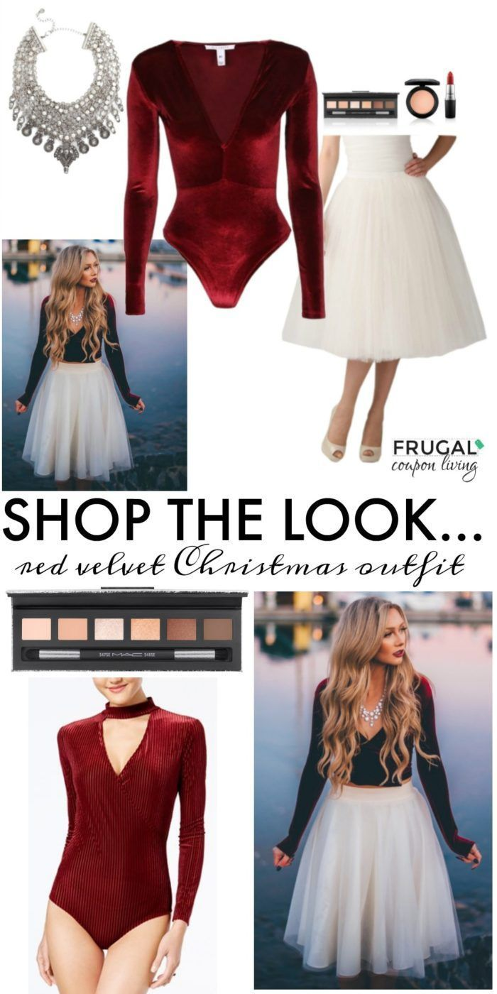 Frugal Fashion Friday Red Velvet Christmas Outfit