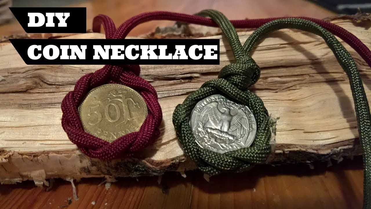 How To Make a DIY Paracord Coin Necklace YouTube Diy