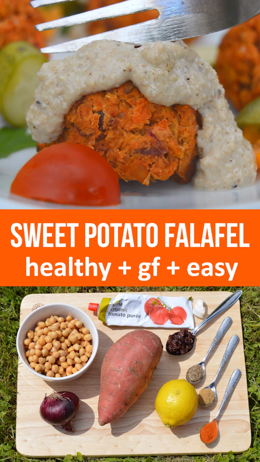 Baked Sweet Potato Falafel #healthyrecipes