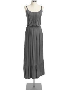 Women's Lace-Trim Jersey Maxi Dresses $15.99