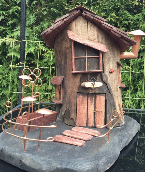 fairy house tree stump no 7 pixiedale garden by copperpaws fairies and such pinterest. Black Bedroom Furniture Sets. Home Design Ideas