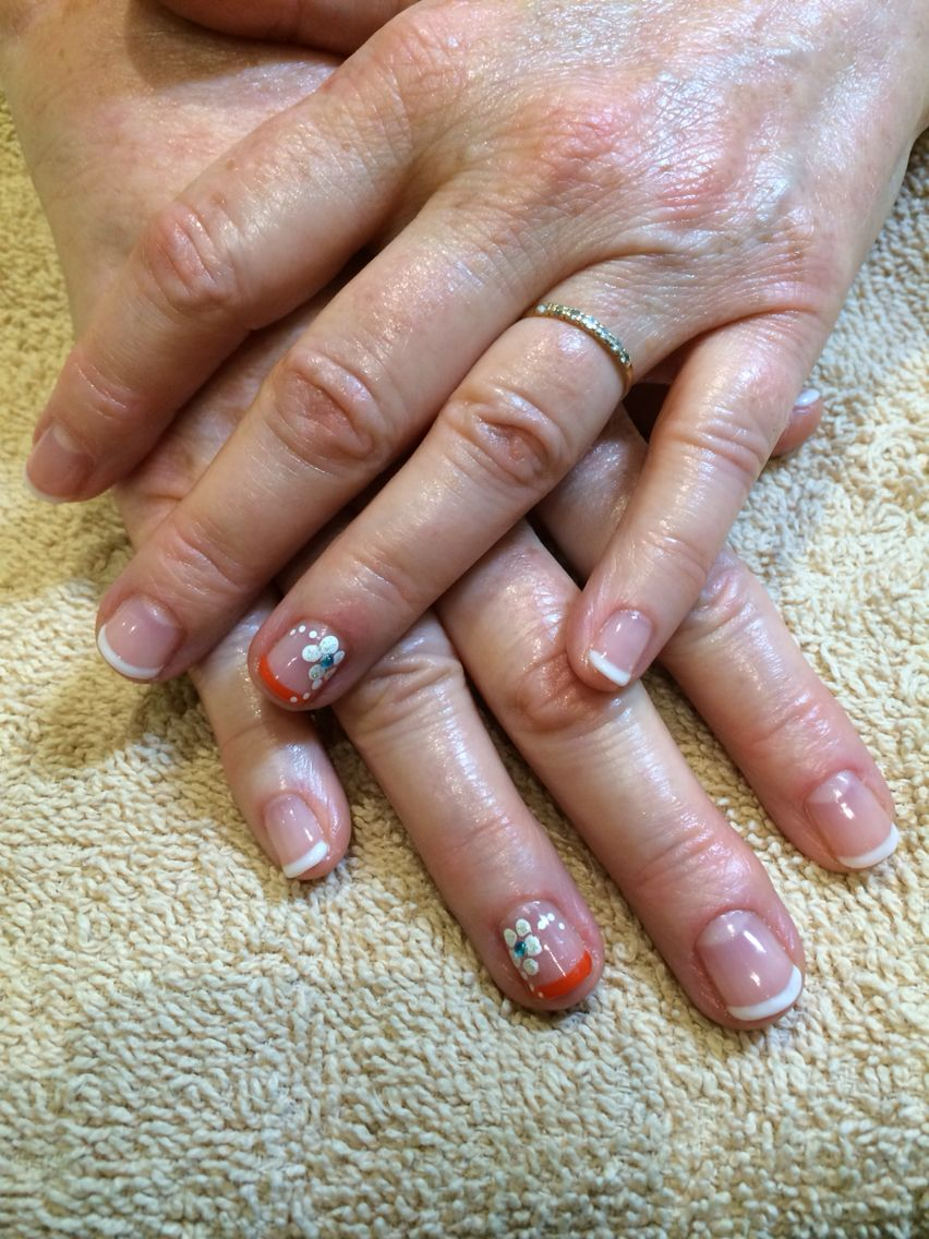 French manicure with a twist :) and some added nail art. | French ...