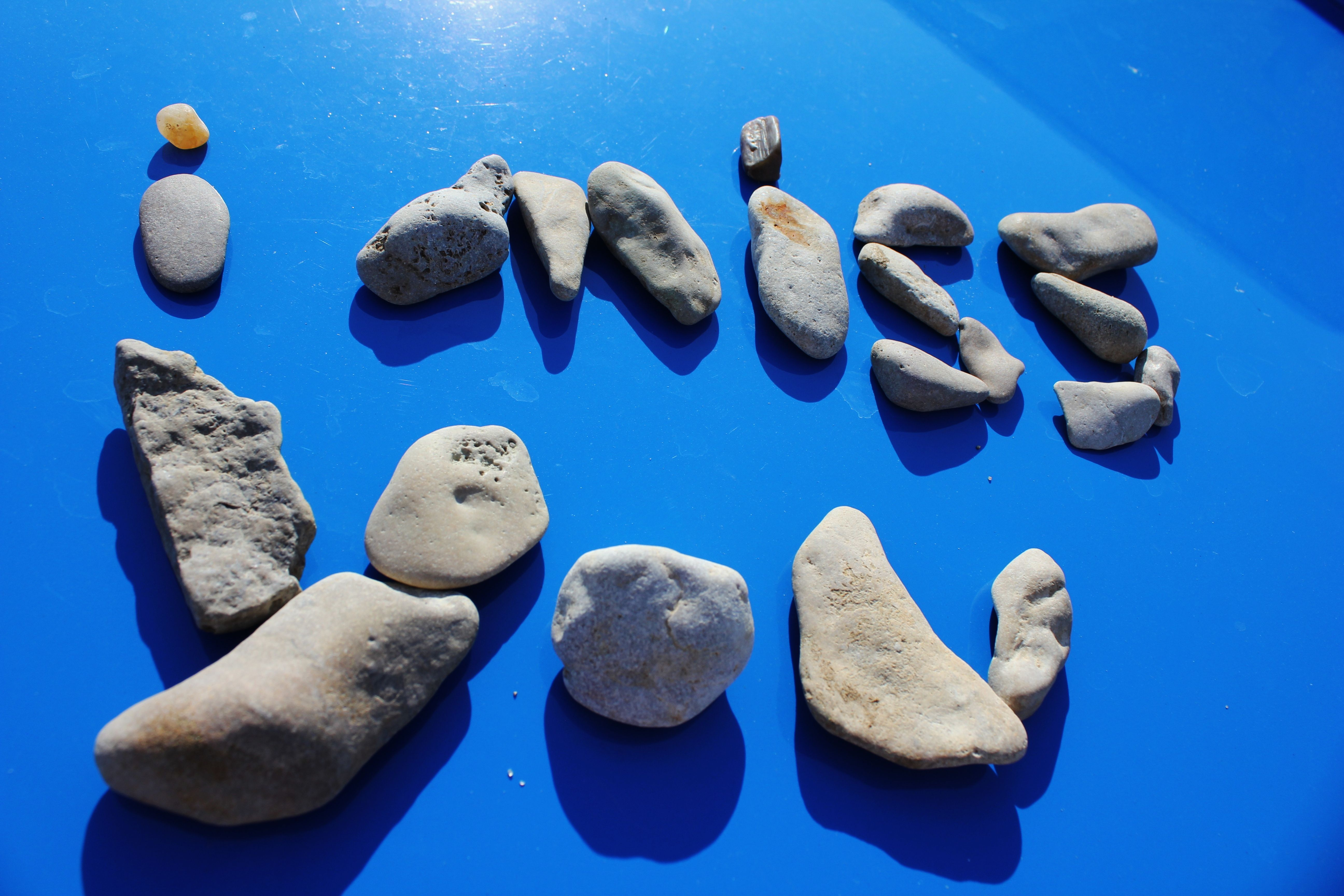 i <15 taking pix of words i spell out with rocks, sticks, flower