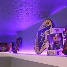 LED Light Shelf- Teen Boy\'s Room With Cool LED Shelves, furniture ...