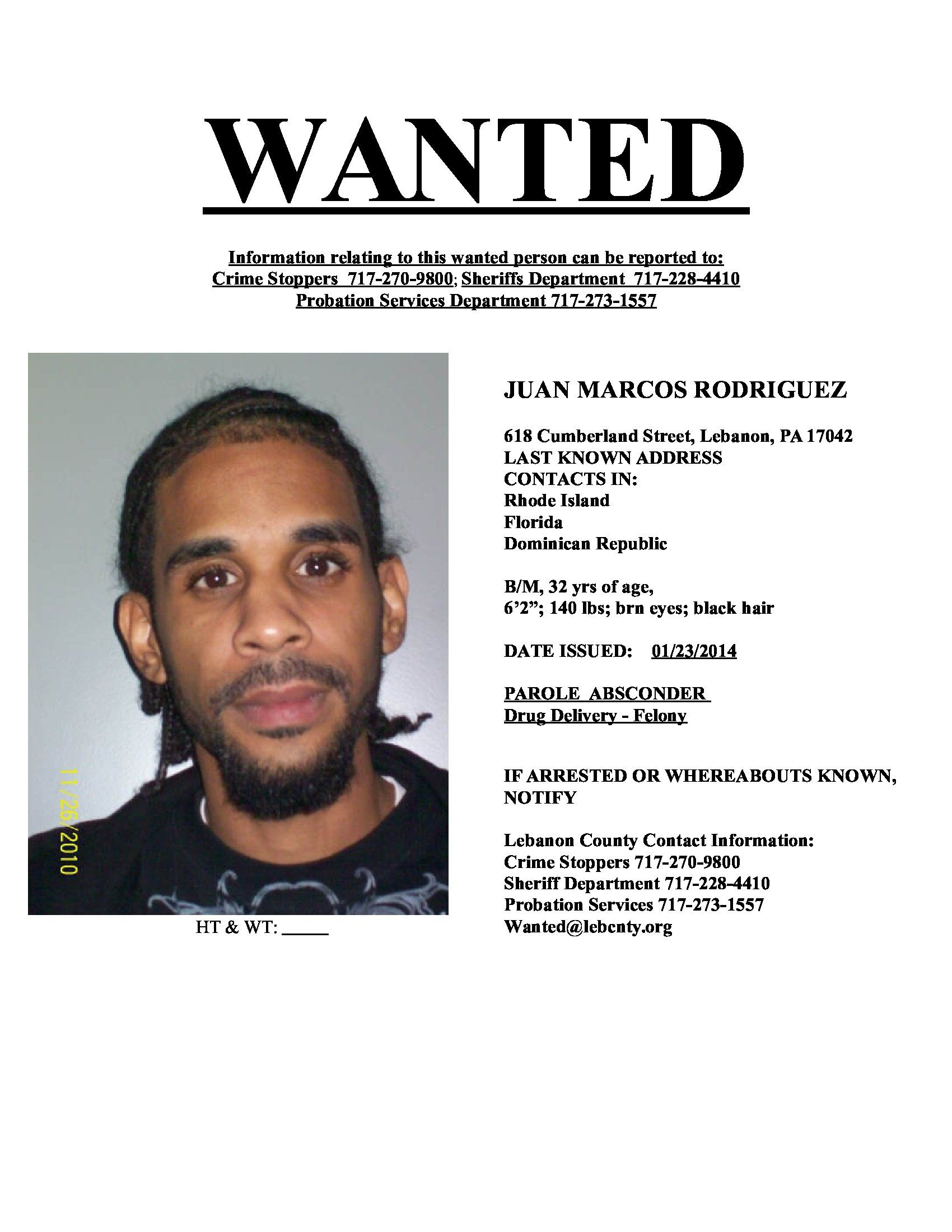 The mugshots and information are provided by Lebanon County