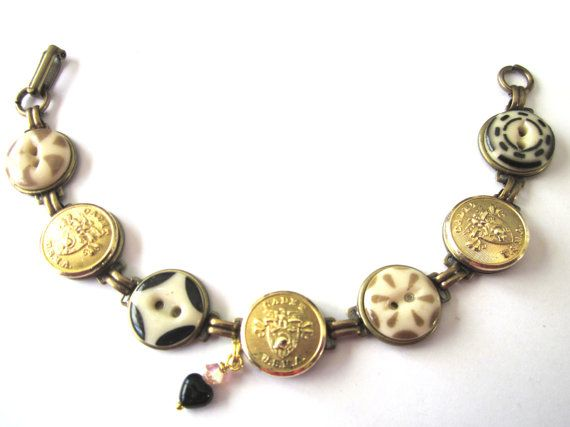 WEST POINT antique button bracelet, 1800s buttons. Show your support! USMA  mom, USMA grandma, USMA sister!