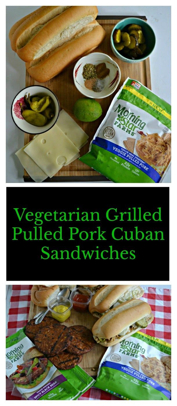 Grilled Vegetarian Pulled Pork Cuban Sandwiches